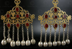 Pair of Turkmen pendants P161. Tekke Turkmen culture, Afghanistan.