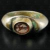 Silver signet ring with Bactrian cameo R302A. Greco-Bactrian kingdom depicting the Goddess Nike. Afghanistan.