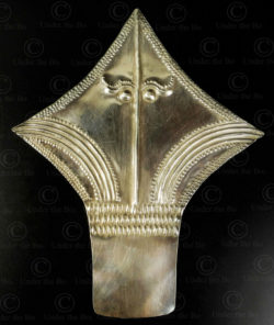 Tribal silver hair ornament P74. Kayin culture, South-Eastern Burma.
