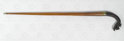 Burmese walking stick BU573B. Originally a Burmese sickle head.