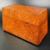 Padauk burl wood box FV139. Inspired from a traditional South Sumatra design. Manufactured at Under the Bo workshop.
