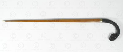 Burmese walking stick BU573A. Originally a Burmese sickle head.