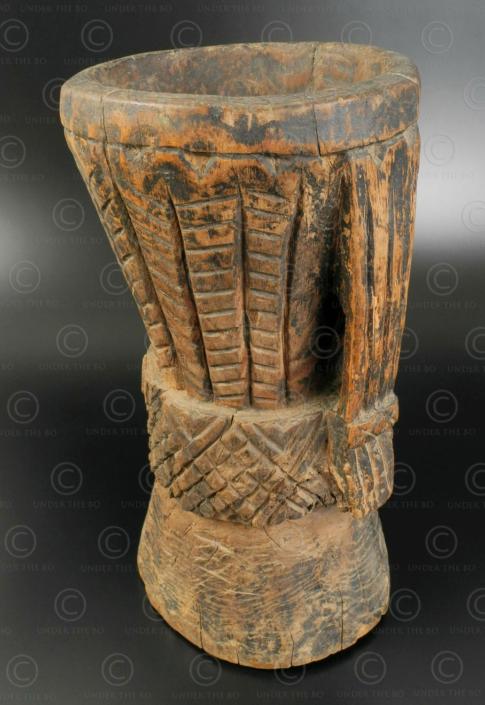 Nuristan wooden mortar SW118. Aret or Shomash valley, Nuristan mountains, Eastern Afghanistan.