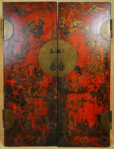 Portes armoire chinoise CH27. Province du Shanxi, Chine.