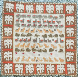Appliqué du Rajasthan aux animaux IN22. Rajasthan, nord de l'Inde.