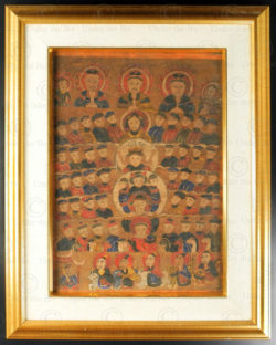 Framed Yao painting YA93. Lantien Yao minority, Southern China or Laos.