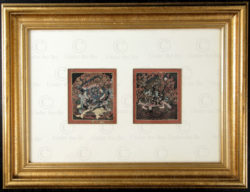 Pair of Tibetan tsakli TIB133C. Tibet.