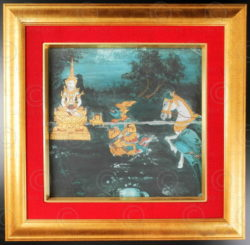 Peinture de manuscrit thaï T281B. Siam.