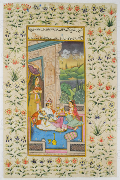 Rajasthan courtly miniature IN624B. Rajasthan school, North India.