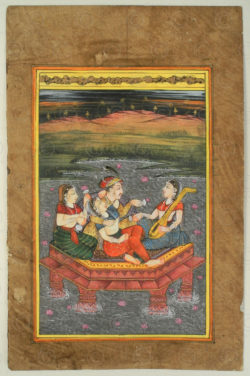 Rajasthan courtly miniature IN624C. Rajasthan school, North India.