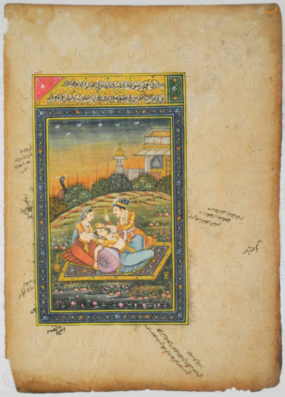 Rajasthan courtly miniature IN624E. Rajasthan school, North India.