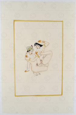 Rajasthan erotic miniature IN623G. Rajasthan school, North India.