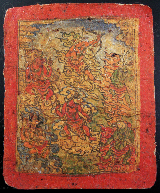 Tibetan tsakli TIB149G. Tibet.