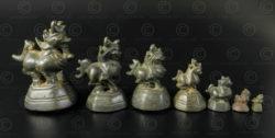 Série de Poids Asie lions OP164. Birmanie.