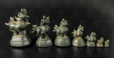 Set of Lions Asian weights OP164. Burma.