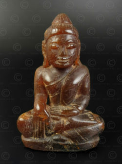 Burmese amber Buddha BU585B .Mandalay style,  Northern Burma. Kaunbaung dynasty,