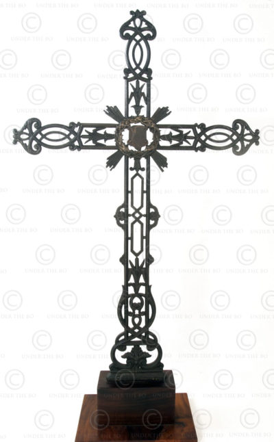 French cast iron wayside cross FR35 .France.