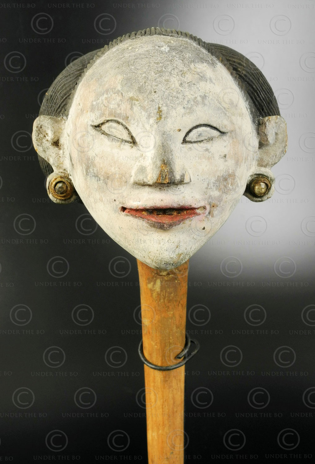 Javanese marionette head ID116 .Central Java, Indonesia.