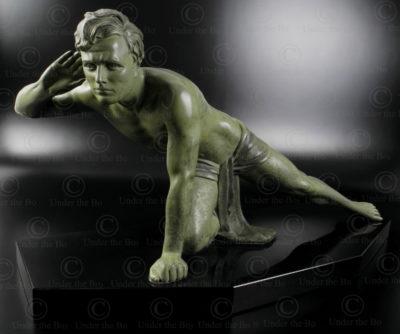 Le Guetteur, statue en régule 12SV1 .France.