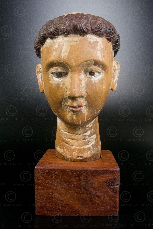 Wooden Saint head VT2D .North Vietnam.