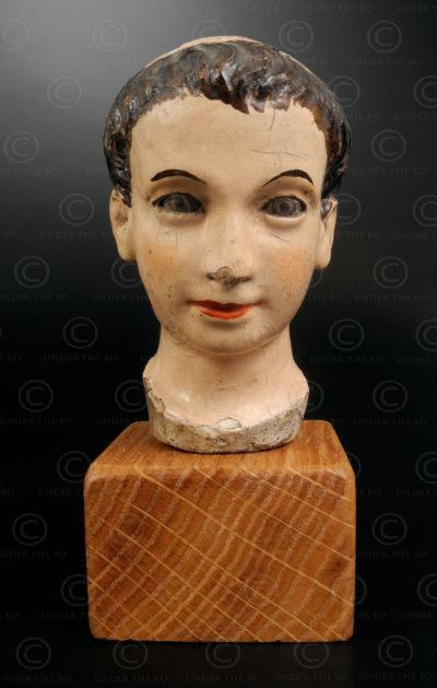 Wooden Saint head VT3B .North Vietnam.