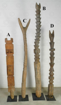 Fula bed pegs 12TG16. Fulani culture, West Africa.