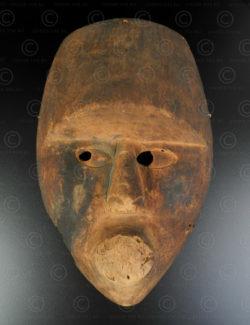 Kayan Dayak mask BO274. Kayan Dayak culture, Borneo island, Indonesia/Malaysia.