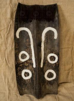 Naga Leather shield NA66F. Nagaland State, North-Eastern India.