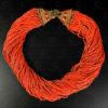 Nagaland red necklace NA220. Konyak or Wangchu sub-groups. Nagaland, North-Eastern India.
