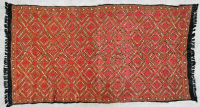 Embroided Swat shawl PAK35B. Swat valley, Northern Pakistan.