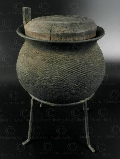 Karen clay pot T210. Karen hill tribe, Eastern Thailand.