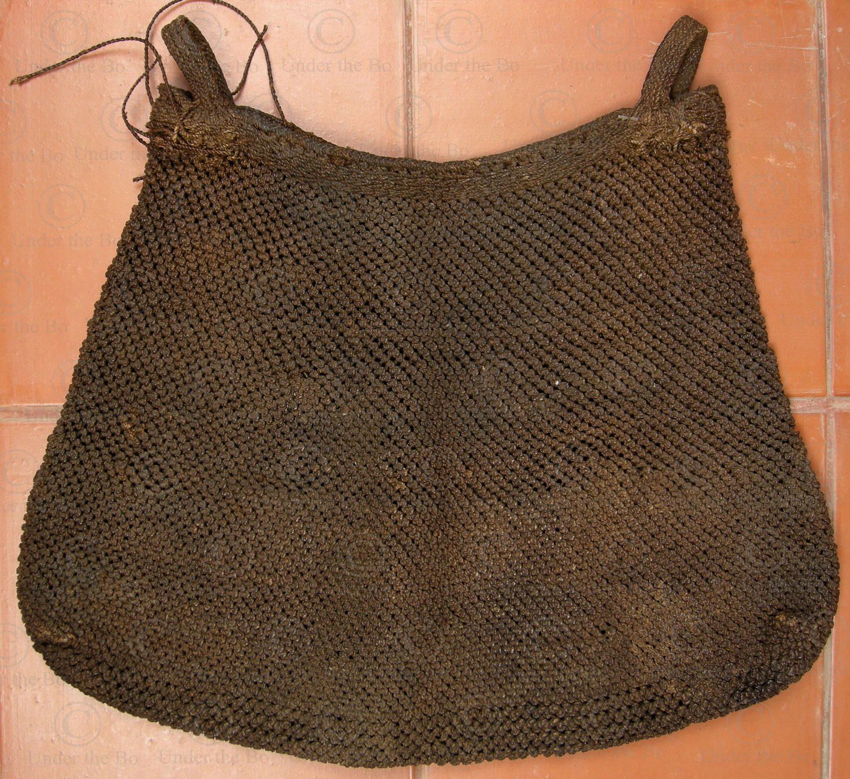 Yao fiber bag YA81. Mien Yao minority, Laos.
