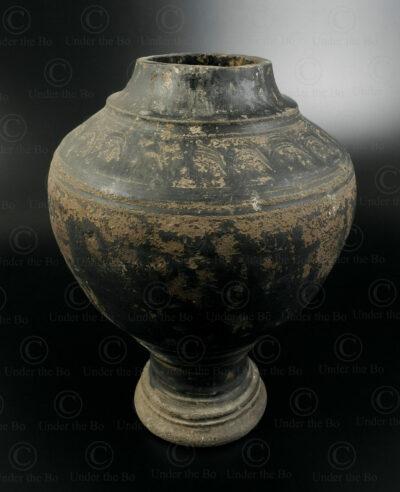 Pot khmer en céramique KM18. Cambodge. Époque d'Angkor, 11ème au 13ème siècle.
