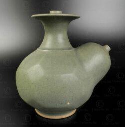 Thai celadon kendi jar T241. Made in Sawankhalok, Thailand.