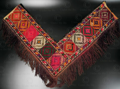 Turkmen woven tent decoration PAK42. Nomadic Turkmen, Central Asia.