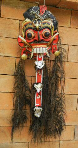 Masque de Rangda Bali 12UZ04. Centre de l'île de Bali, Indonésie.