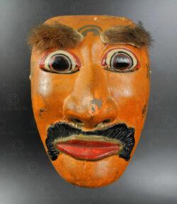 Masque de danse balinais ID94. Centre de l'île de Bali, Indonésie.