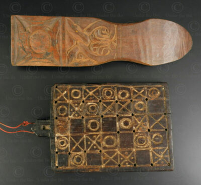 Two Indonesian wooden implements ID108. East Bali or Lombok island, Indonesia.